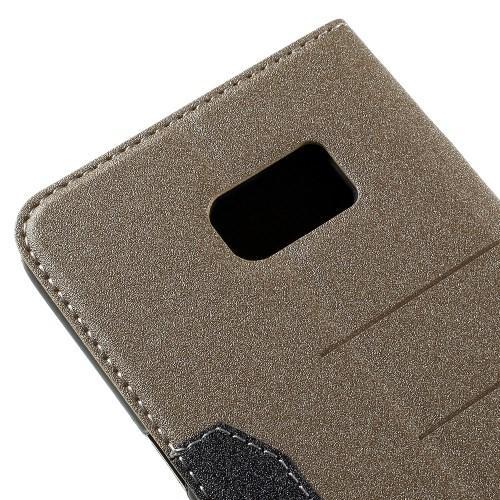 Чехол книжка для Samsung Galaxy S6 Edge+ золотой Mercury CaseOn