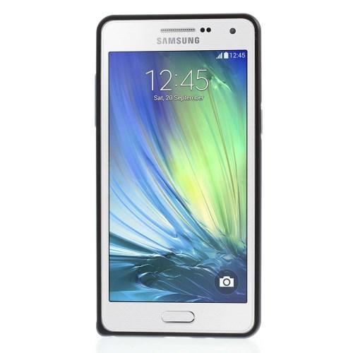 Металлический ультратонкий бампер для Samsung Galaxy A5 чёрный