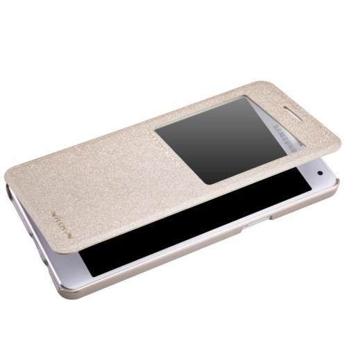 Чехол книжка Nillkin Gold Sparkle для Samsung Galaxy A5, Galaxy A5 Duos с функцией активное окно