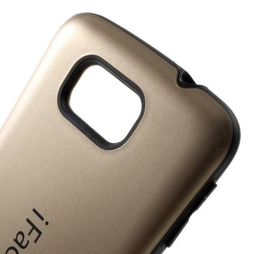 Противоударный гибридный чехол iFace для Samsung Galaxy Alpha Золотой
