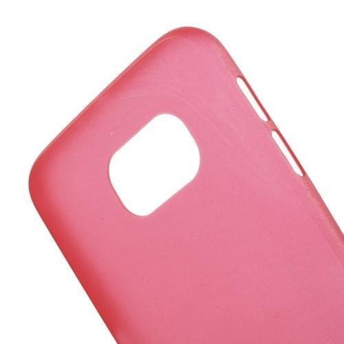 Ультратонкий пластиковый чехол для Samsung Galaxy S6 красный