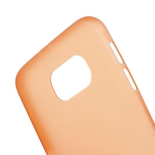 Ультратонкий пластиковый чехол для Samsung Galaxy S6 оранжевый