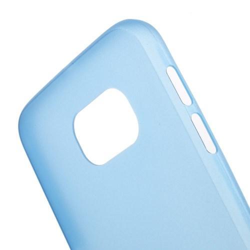 Ультратонкий пластиковый чехол для Samsung Galaxy S6 синий
