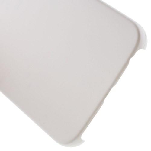 Кейс чехол для Samsung Galaxy S6 edge пластиковый - белый