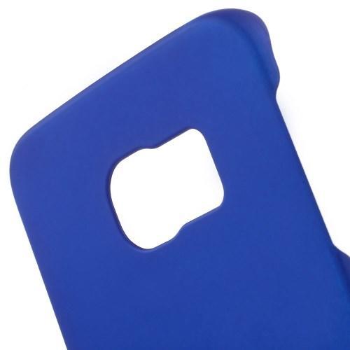 Кейс чехол для Samsung Galaxy S6 edge пластиковый - синий
