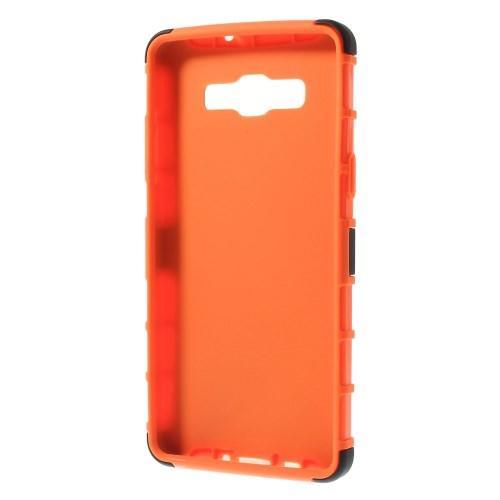 Гибридный противоударный чехол для Samsung Galaxy A5 - оранжевый