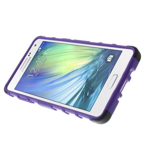Гибридный противоударный чехол для Samsung Galaxy A5 - фиолетовый