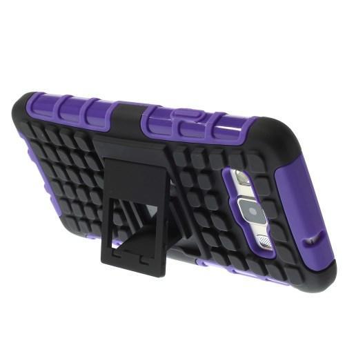Гибридный противоударный чехол для Samsung Galaxy A3 - фиолетовый