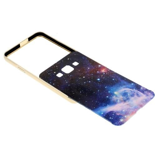 Металлический чехол для Samsung Galaxy A3 с орнаментом Space