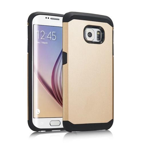 Противоударный гибридный чехол FlexiGuard для Samsung Galaxy S6 Edge Золотой