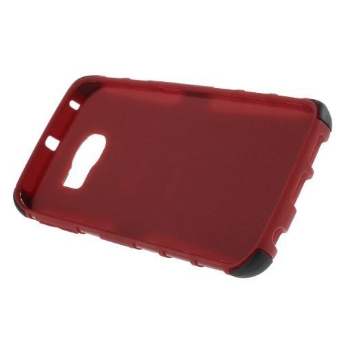 Гибридный противоударный чехол для Samsung Galaxy S6 edge - красный