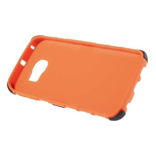 Гибридный противоударный чехол для Samsung Galaxy S6 edge - оранжевый