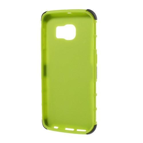 Гибридный противоударный чехол для Samsung Galaxy S6 edge - зеленый