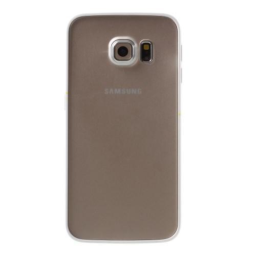 Гибридный чехол для Samsung Galaxy S6 Edge Прозрачный матовый и Белый