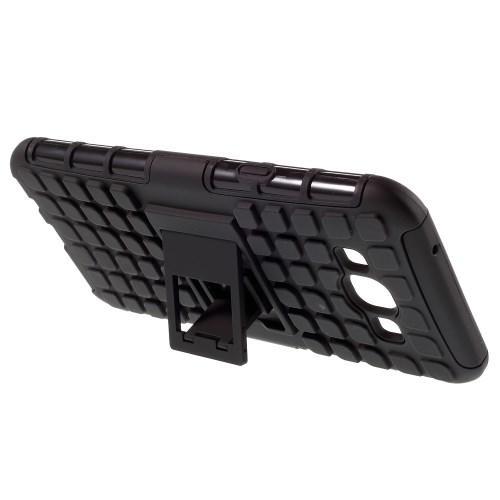 Гибридный противоударный чехол для Samsung Galaxy A8 - черный
