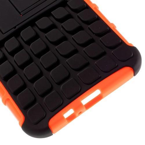 Гибридный противоударный чехол для Samsung Galaxy A8 - оранжевый