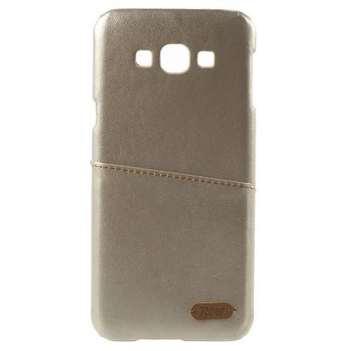 Кейс чехол с отделением для банковской карты для Samsung Galaxy A8 золотой