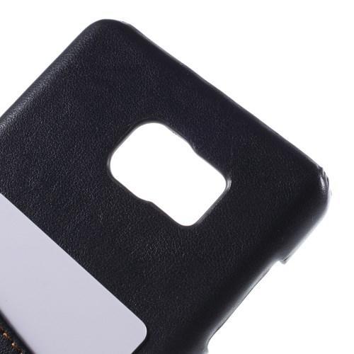 Кейс чехол с отделением для банковской карты для Samsung Galaxy Note 5 Темно синий