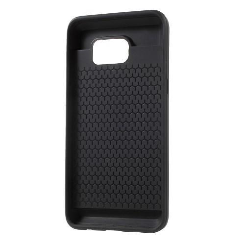Защитный чехол с отделением для карточки для Samsung Galaxy S6 Edge+ черный