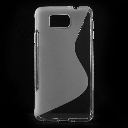 Силиконовый чехол для Samsung Galaxy Alpha прозрачный S-образный