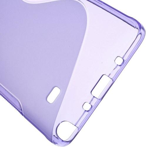 Силиконовый чехол для Samsung Galaxy Note 4 фиолетовый