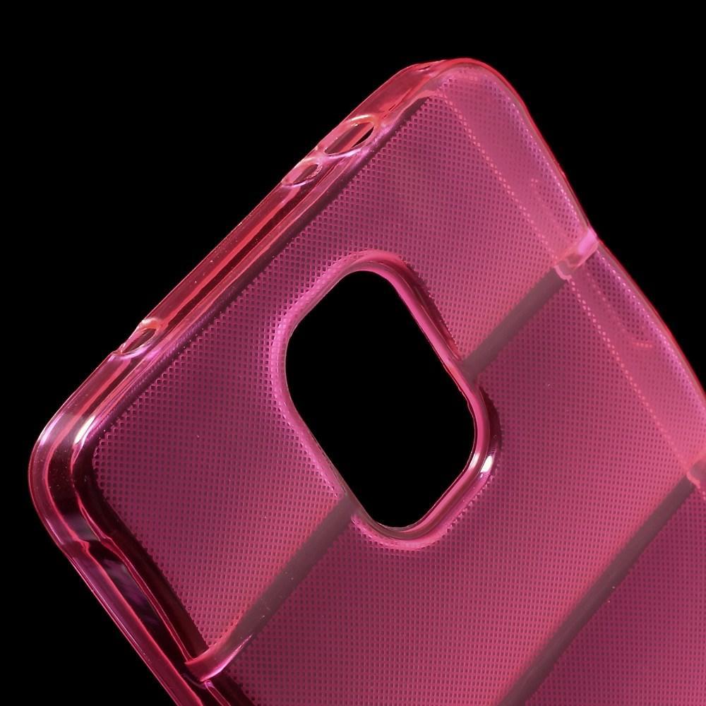 Силиконовый чехол для Samsung Galaxy Note 4 розовый противоскользящий