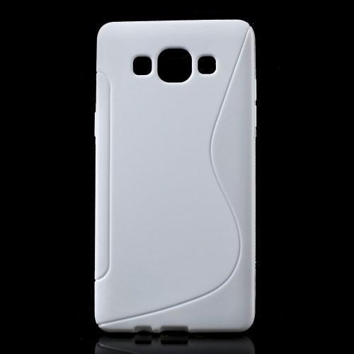 Силиконовый чехол для Samsung Galaxy A5, Galaxy A5 Duos - белый S-образный