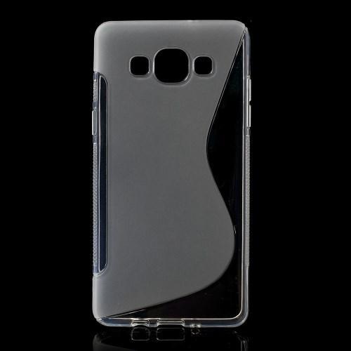 Силиконовый чехол для Samsung Galaxy A5, Galaxy A5 Duos - прозрачный S-образный