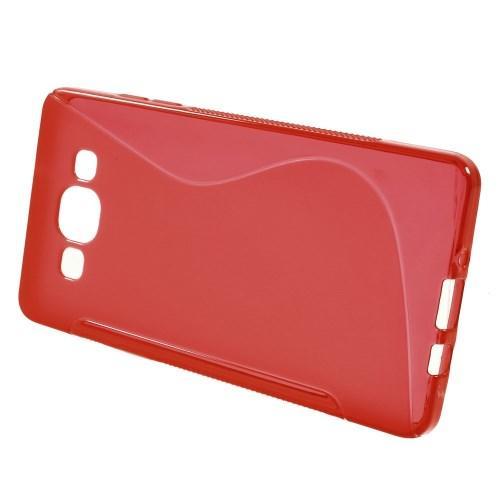 Силиконовый чехол для Samsung Galaxy A5, Galaxy A5 Duos - красный S-образный