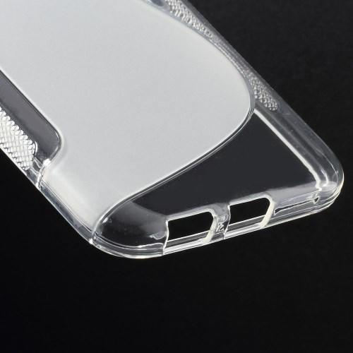 Силиконовый чехол для Samsung Galaxy E5 S-образный прозрачный