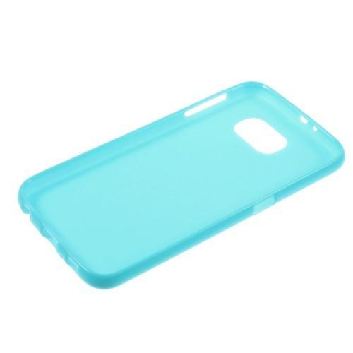 Силиконовый чехол для Samsung Galaxy S6 - ярко-голубой