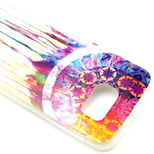 Силиконовый чехол для Samsung Galaxy S6 edge Colorful Dreamcatcher