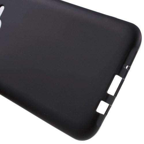Матовый силиконовый чехол для Samsung Galaxy J7 чёрный