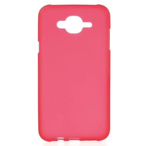 Матовый силиконовый чехол для Samsung Galaxy J7 красный