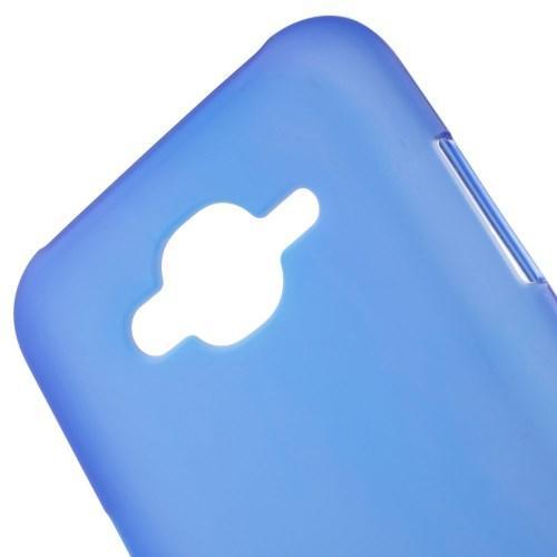 Матовый силиконовый чехол для Samsung Galaxy J7 синий