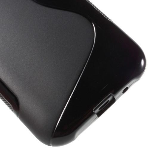 Силиконовый чехол для Samsung Galaxy J1 черный S-Shape