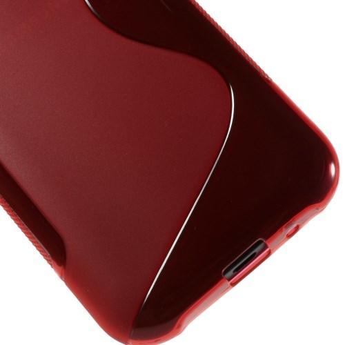 Силиконовый чехол для Samsung Galaxy J1 красный S-Shape