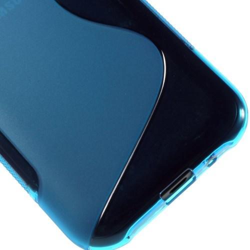 Силиконовый чехол для Samsung Galaxy J1 синий S-Shape