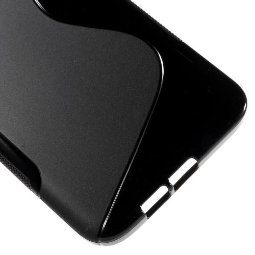 Силиконовый чехол для Samsung Galaxy A8 черный S-Shape