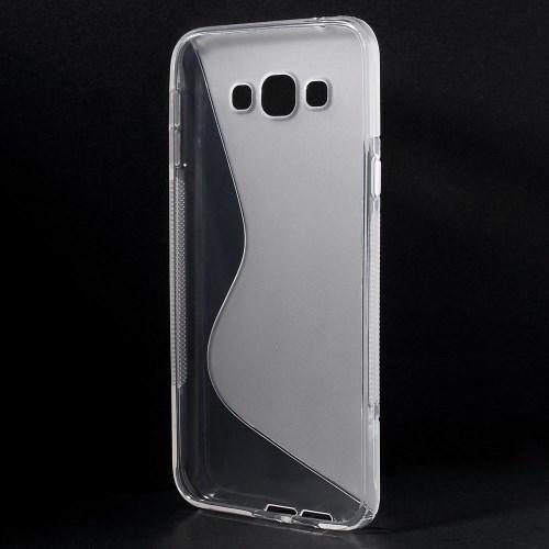 Силиконовый чехол для Samsung Galaxy A8 прозрачный S-Shape
