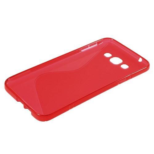 Силиконовый чехол для Samsung Galaxy A8 красный S-Shape