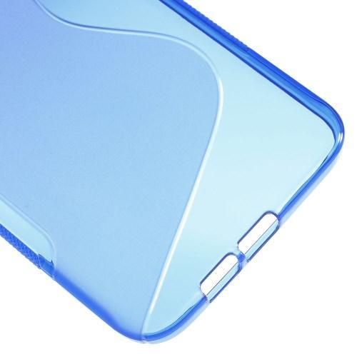 Силиконовый чехол для Samsung Galaxy A8 синий S-Shape