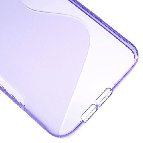 Силиконовый чехол для Samsung Galaxy A8 фиолетовый S-Shape