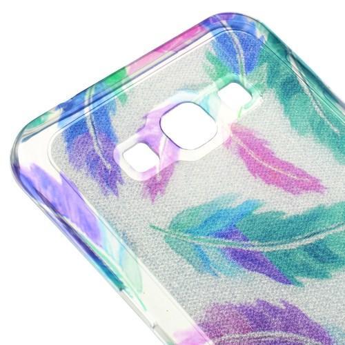 Силиконовый чехол для Samsung Galaxy A8 - Искрящиеся Перья