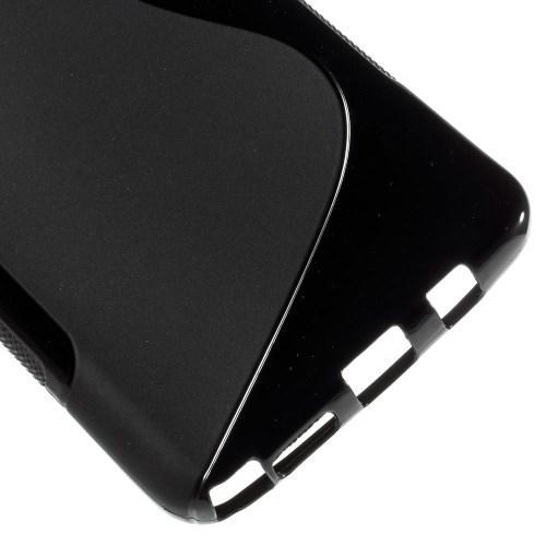 Силиконовый чехол для Samsung Galaxy Note 5 черный S-Shape