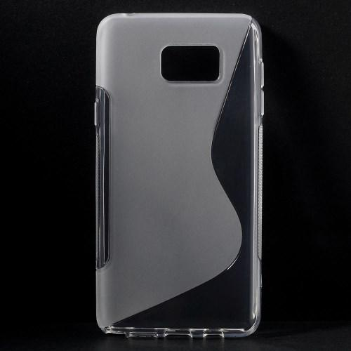Силиконовый чехол для Samsung Galaxy Note 5 прозрачный S-Shape