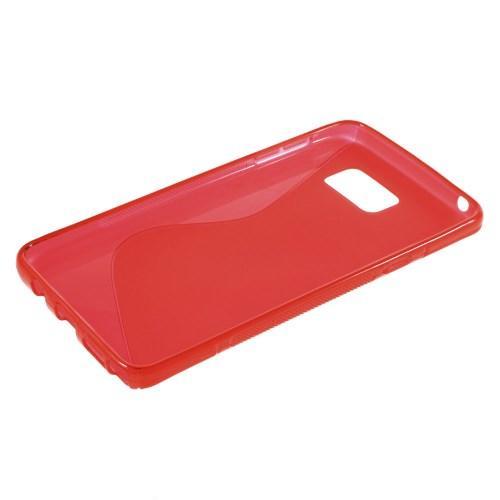 Силиконовый чехол для Samsung Galaxy Note 5 красный S-Shape