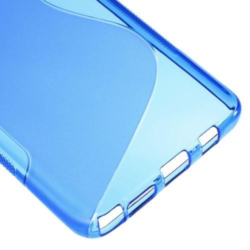 Силиконовый чехол для Samsung Galaxy Note 5 синий S-Shape
