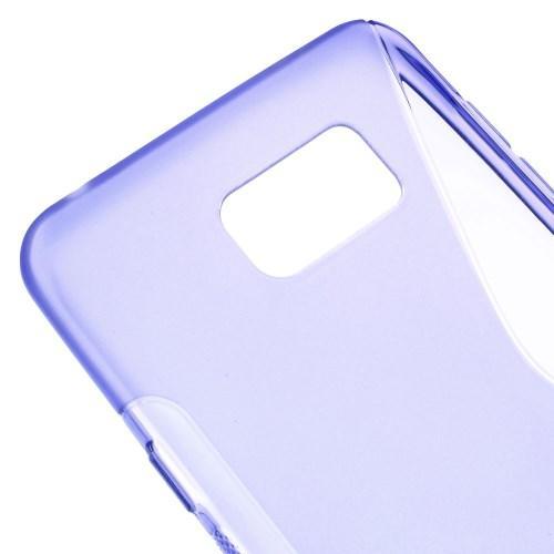 Силиконовый чехол для Samsung Galaxy Note 5 фиолетовый S-Shape