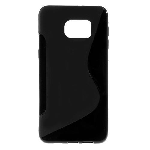 Силиконовый чехол для Samsung Galaxy S6 edge+ черный S-образный